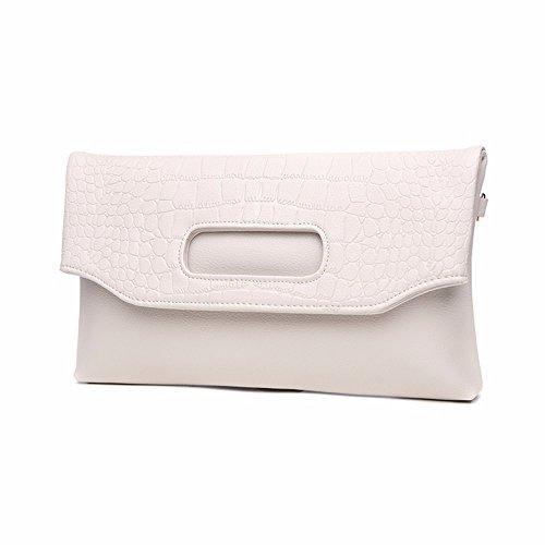 sac enveloppe coursier Blanc nouvelle le blanc Le sac en la Riz replié de riz cuir sac banquet R8vCxgq