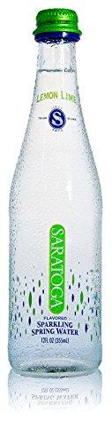 Saratoga Essence Flavored Sparkling Water (Lemon-Lime, Carbonated, Pack of 24 bottles)
