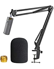 Razer Seiren X Boom Arm with Pop Filter - Mic Stand with Foam Cover Windscreen for Razer Seiren X Streaming Microphone by YOUSHARES
