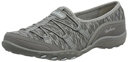 Skechers Sport Women's Breathe Easy Golden Fashion Sneaker, Grey, 5.5 M US