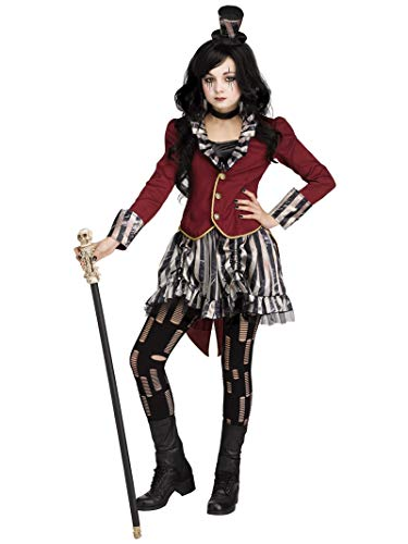 Scary Circus Ring Leader Costumes - Fun World Big Girl's Freakshow Ringmistress
