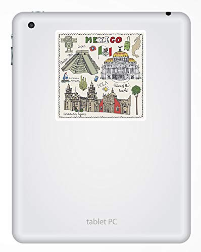 2 x 10cm M/éxico pegatinas de vinilo Viajes mexicana etiqueta de equipaje port/átil # 17254 10 cm de altura