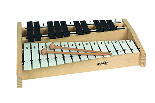 Goldon 11140 Sound Plates Octaves Metallophone - White/Black by Goldon