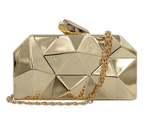 Diamants golden mode Alliage silver 1 monnaie banquet HopeEye porte 3 mariage Femmes white Tendances la mxdwyb01 de femme Bag Messenger Clutches TwwR8qI