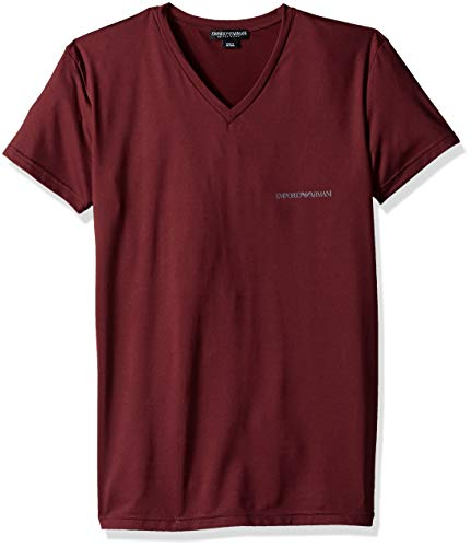 Emporio Armani Men's Essential Microfiber Vneck T-Shirt, Must, Small
