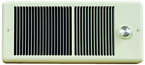 TPI HF4315TRP Series 4300 Low Profile Fan Forced Wall Heater with 1 Pole Thermostat, Standard, Ivory, 1500/1125 ()