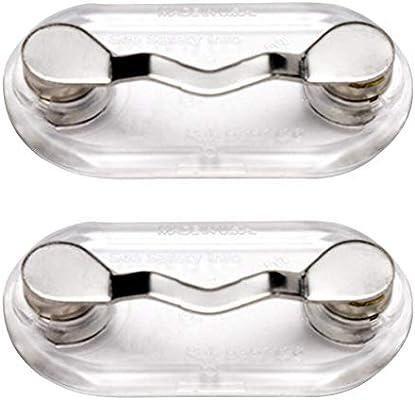 2pcs Stainless Steel Magnetic Eyeglass Holder ID Badge Eye Glasses Brooch