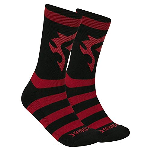 JINX World of Warcraft Horde Core Embroidered Athletic Crew Socks, 1 Pair - Horde Crest T-shirt