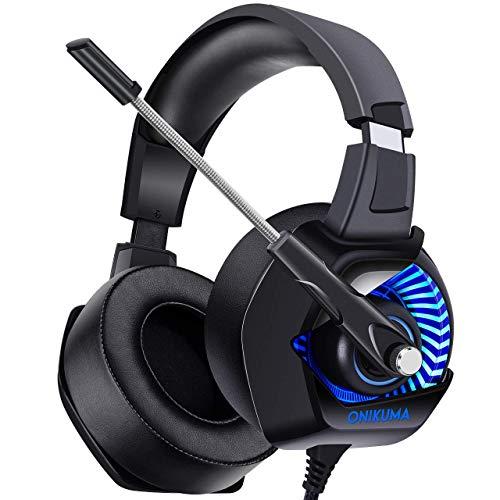 Onikuma K6 Gaming Headset  Black and Blue