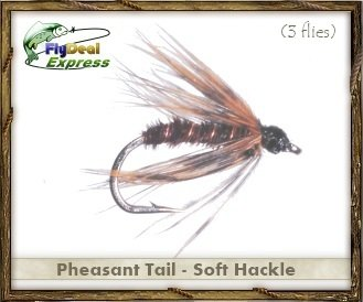 Fly Fishing Flies - PHEASANT TAIL SOFT HACKLE - Wet Fly (3-pack) (Soft Nymph Hackle)