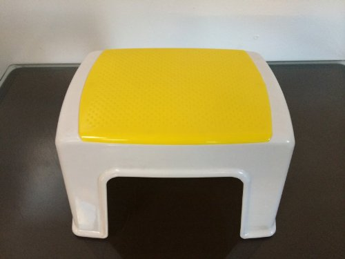 Fataco Durable Plastic Light Weight Kids Stacking Chairs Stool Step Yellow