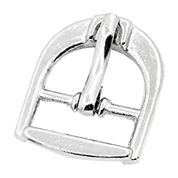Souarts Silver Tone Color Shoe Buckle Closure Fastening Findings Pack of 40pcs