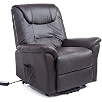 HomCom 42 Infinite Position Electric Lift Chair Recliner - Dark Brown