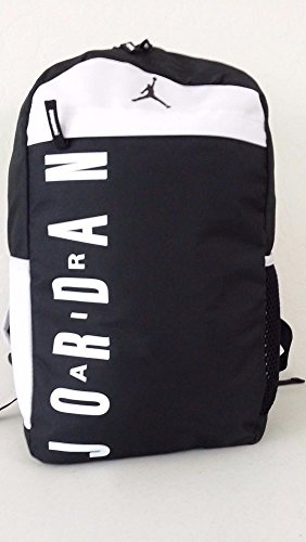 c73261d6cf Nike JORDAN Jumpman Backpack Black White Laptop Sleeve Book Bag (Jordan Bag)
