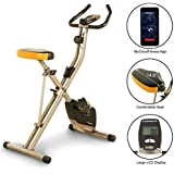 Exerpeutic Folding Heavy Duty 300 lbs. Weight Capacity Magnetic Upright Exercise Bike with Optional Bluetooth