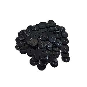 100x negro ojo de pez botones de tamaño 22