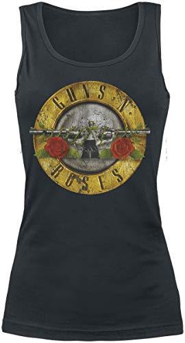 Guns N Roses Distressed Bullet Women Top Black, Regular