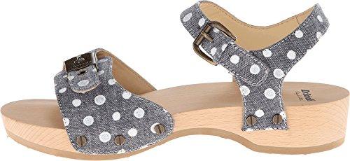 Dr. Scholl's Women's Lola Platform Sandal,Chambray / White,9 M US