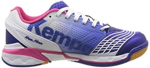Kempa Attack One, Damen Handballschuhe Blau (bleu Électric/blanc/rose)