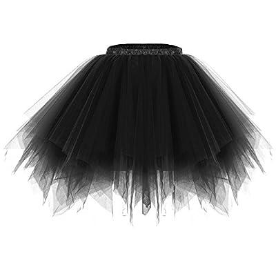 URVIP 80's Party Skirt Lolita Petticoat Vibrant Full Crinoline Layers Tulle Tutu