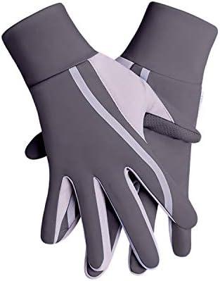 BAJIMI UVカット手袋 手触りが良い ファッションUVプロテクショングローブUPF50 +滑り止めライディンググローブ 夏 ハンド ケア レディース/メンズ (Color : Gray+black, Size : L)