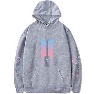DealRight BTS Hoodie Love Yourself Pullover Kpop Suga V Jimin Jungkook J-Hope Hooded Sports Sweatshirt