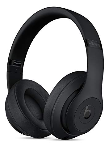 Beats S t u d i o 3 Wireless Over The Ear Headphones in Matte Black with Carrying case and Universal USB Charging Cable (USB-A to USB Micro-B) (Best Beats By Dre For Working Out)