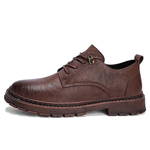 Cordones Los Formal Oxford Con Xhd men's Hombres De La Cómodo Moda Shoes Calzado Simple Ocasional Y Marrón Ultrafino xtXga