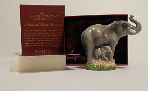 Department 56 African Safari Animals Elephant ''Learning To Play'' Candle Snuffer #56.50041 by Department 56