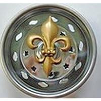 Billy-Joe Kitchen Strainer-new stainless steel basket fits standard sinks--Enamel Gold Fleur de Lis by Billy Joe Homewares