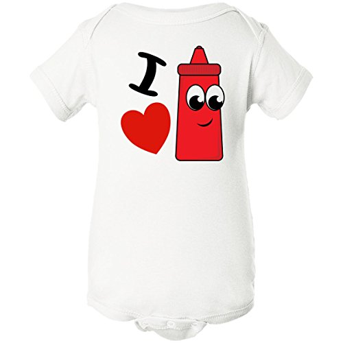 Inktastic Unisex Baby I Heart Ketchup Infant Creeper 6 Months White