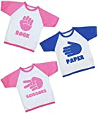 Babyprem Baby Toddler 3 T Shirts Tees Triplet Clothes Rock Paper Scissors 1 Blue 2 Pink 2-3 Years