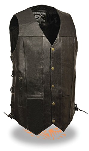 big and tall leather vest - 5