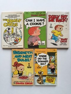 Family Circus (Set of 5) Can I Have A Cookie; Dolly Hit Me Back; Where Did Summer Go...