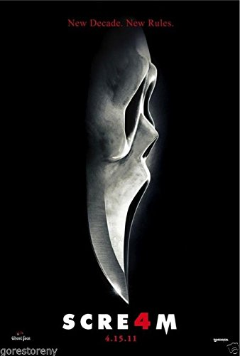 SCREAM 4 Movie Poster Horror Wes Craven 24x36 inch
