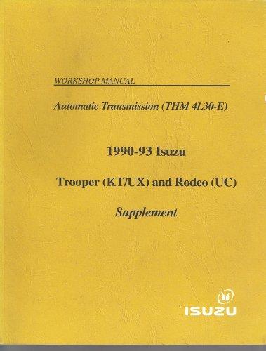 1990-93 4L30-E Automatic Transmission Workshop Manual Supplement