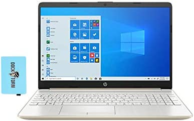 "HP 15-dy Home and Business Laptop Pale Gold (Intel i5-1035G1 4-Core, 12GB RAM, 256GB SSD, Intel UHD, 15.6"" HD (1366x768), WiFi, Bluetooth, Webcam, 1xUSB 3.2, 1xHDMI, SD Card, Win 10 Home) with Hub"