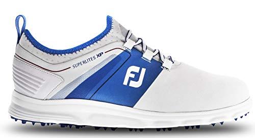 FootJoy Men's Superlites XP Slip-On Golf Shoes 58063 - White/Red/Blue - 11 - Medium