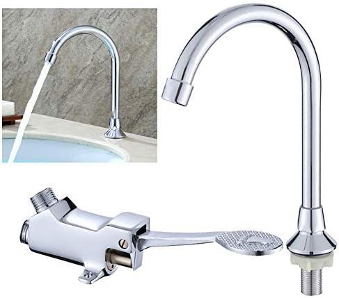フットペダルの蛇口セット洗面器の水栓用ハンドフリーフロアマウントバスルームの蛇口