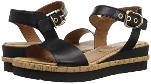 Oxford 28222 Tamaris Black Eda Flat Women''s pqxwAf8Oa