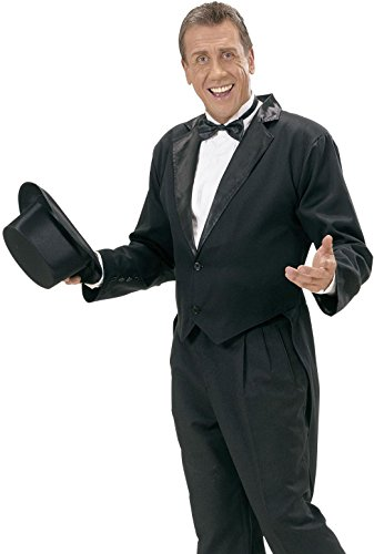[Mens Blk Lined Tailcoat Costume Medium For Hardy Hollywood Film Fancy Dress] (Hollywood Film Fancy Dress Costumes)
