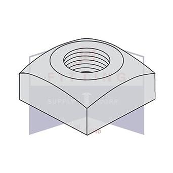 300 Pc 1//2-13 Regular Square Nuts//Steel//Hot Dip Galvanized Carton