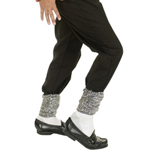 Michael Jackson Sequin Sparkle Socks Costume Accessory]()