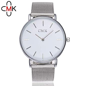 Darringls_Reloj CMK35,Cristal Acero Inoxidable Reloj de ...