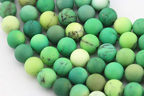 ShopForAllYou Design Making Nice Matte Chrysoprase Round Loose Beads 15.5'' Long Size:8mm ()