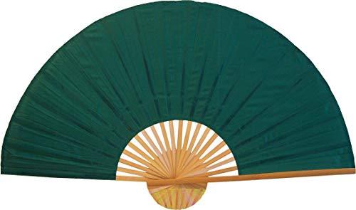 Large 60'' Folding Wall Fan - Solid Green Unpainted - Original Wall Fan by Oriental-Decor