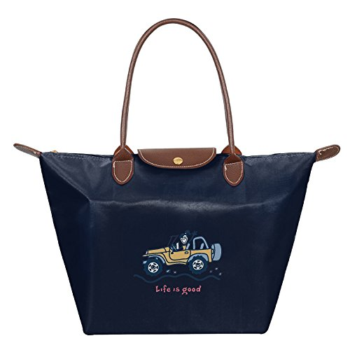 Womens-Waterproof-Nylon-Foldable-Large-Tote-Bag-Jeep-Life-Is-Good-Shopping-Shoulder-Handbags