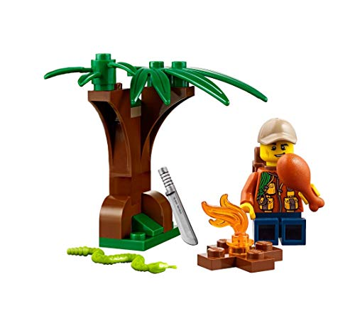 LEGO Jungle Explorer Outback Minifigure (w/ Tree, Fire Pit, Snake, and More) 60157