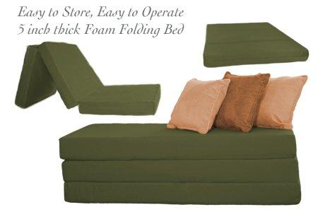 amazoncom the futon shop 5 inch sleeper chair folding foam beds cushion double grey kitchen u0026 dining - Sleeper Chair