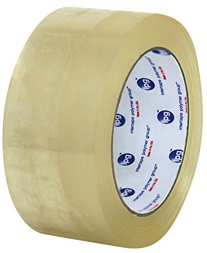 Intertape Polymer Group F4085-05 7100 Medium Grade Hot Melt Carton Sealing Tape, 1.85 mil Thick x 100M Length x 48mm Width, Clear, Case of 36 Rolls